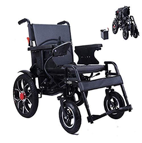 XINTONGDA Silla de Ruedas eléctrica Plegable para discapacitados Carro Plegable Antiguo Deshabilitado...
