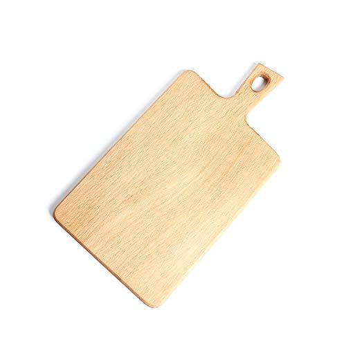 Old carpenter OCC Holzbrett mit Stielbrot - Japanisches Schneidebrett, Pizzateller, Obstteller/klassisch handgemacht, Keine Schadstoffe,A (Der Japanische Spielzeug-küche)