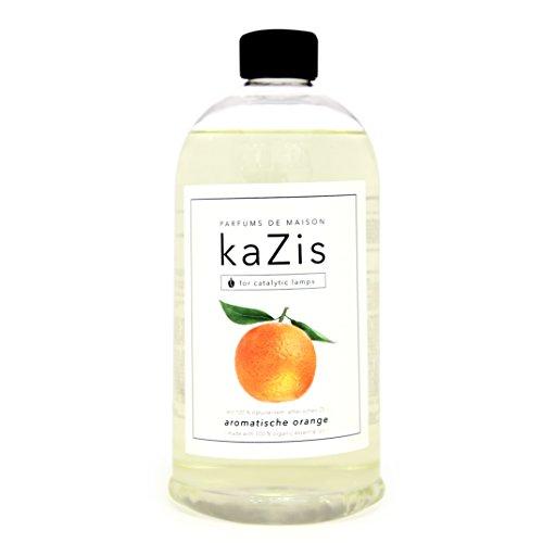 kaZis I DUFT ORANGE I Lampe Berger Raum-Duft Alternative I Parfums de Maison I Nachfüll-Öl (Refill) I 1000 ml – 1 Liter I katalytische Lampe (Refill Wäsche Duft)