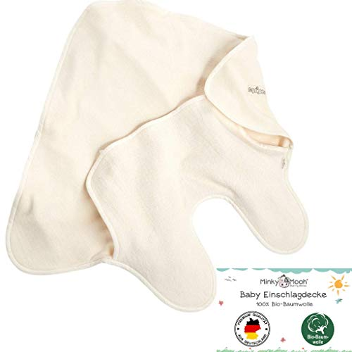 Einschlagdecke für Babyschale (Sommer) aus 100% BIO-Baumwolle, hergestellt in DEUTSCHLAND | Maxi Cosi Decke für 3 und 5-Punkt-Gurt | Baby Kinderwagendecke, Fußsack für Maxicosi, Tragetuch