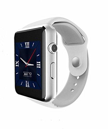 WILK-A Smart Watch Bluetooth GespräCh Social Entertainment Multi-Funktions-Karte Handy Sport SchrittzäHler , white
