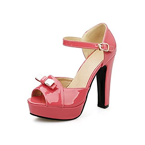Adee , Sandales pour femme - Rouge - rouge, 38 2/3
