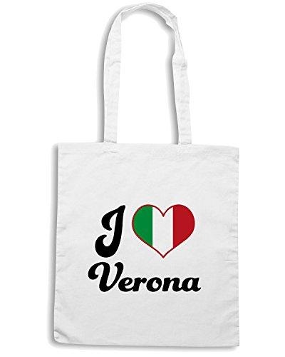 T-Shirtshock - Borsa Shopping TLOVE0073 italy i heart verona Bianco