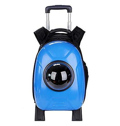 KAI-Les chiens et chats package package package espace levier sac à dos hors catégorie chats sac double portable?32X26X44cm?Sapphire blue