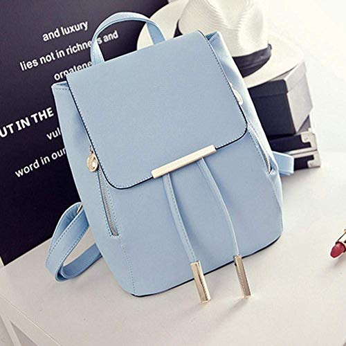 Bizanne Fashion Girl's Canvas Attractive College Bag (Blue) Image 3