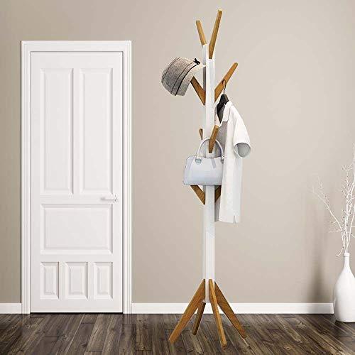 HS-Lighting Bambus Garderobenständer Kleiderständer mit 8 Haken BxTxH: 42 x 42 x 178,5cm