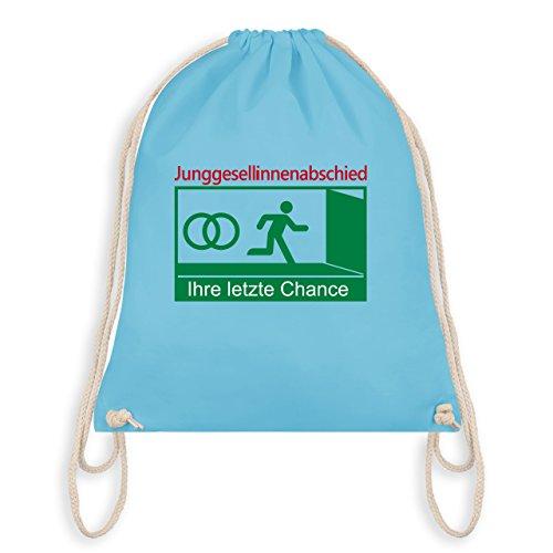 Ihre Turnbeutel letzte Bag JGA Junggesellinnenabschied Hellblau Chance Gym I AHwxSqxC