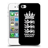Head Case Designs Offizielle England and Wales Cricket Board Schwarz 2018/19 Kamm Ruckseite Hülle für iPhone 4 / iPhone 4S