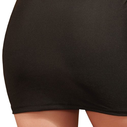E-Girl New nouveau simple épaule Près du corps Robe de soirée, Noir Noir