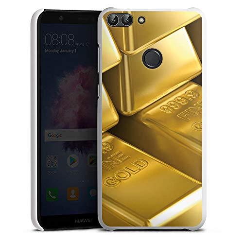 DeinDesign Hülle kompatibel mit Huawei P smart (2018) Handyhülle Case Goldbarren Gold Barren