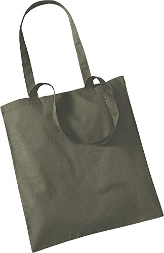 Westford Mill Shopper Handtasche Aufbewahrung Reisetasche Promo Schulter Tasche One Size Grün - Olive Green