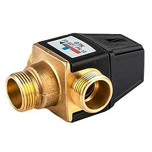Sharplace Válvula Mezcladora Termostática de 3 vías Válvula de Mezcla de Calentador de Agua Solar – DN20 Masculino