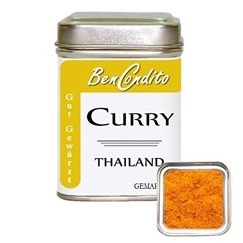 BenCondito - Curry Thailand - scharfes rotes Thai Currypulver mit Chili 80g Dose
