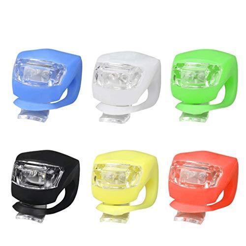 CAIM- Eclairage avant Lumières de Conduite de Nuit Lumières de Conduite de Conduite de Grenouille Enfants Scooters LED Silicone Warning Feux arrière Accessoires d'équitation (Color : Multi-Colored)