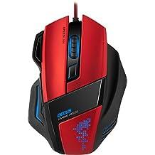 Speedlink Decus Core Gaming Maus (Laser-Sensor, 7 Tasten programmierbar, interner Speicher, DPI-Schalter bis 5000dpi) rot