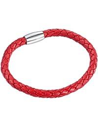 Rafaela Donata Unisex-Armband Edelstahl Leder 60907002