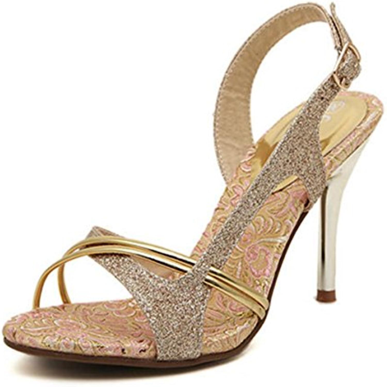 DZW? s   Rome    s à La Cheville En Or Slip On Court Chaussures Pompes  s Size s High...B074RFKYX6Parent   Apparence Attrayante  373410