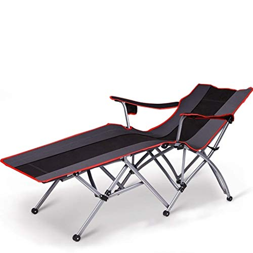 ZAQXSW Liegestuhl Klappbett Stuhl Mittagspause Siesta Bett Stuhl faul Rückenlehne Stuhl Büro zu Hause Strand glücklich Freizeit Stuhl