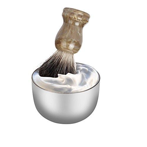 Amcool Stainless Steel Rasierseifenschalen Rasierschale Edelstahl Herren Tragbar Rasieren Becher Schüssel Tasse für Rasierpinsel (Mühle Tragbare)