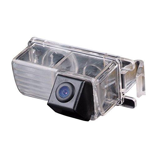 Greatek Auto HD CCD Rückfahrkamera 170° Weitwinkel mit Radar Sensor Einparkhilfe Universal für 370Z 350-Z Tiida Lavina Skyline R35 350GT 370z Fairlady (Starlight Super Pro Kamera) - Sharp Ccd Sensor