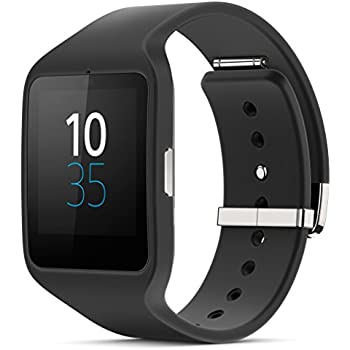 Sony Mobile SWR50 SmartWatch 3 Fitness and Activity Tracker Wrist Watch Compatible with Android 4.3+ Smartphones - Black