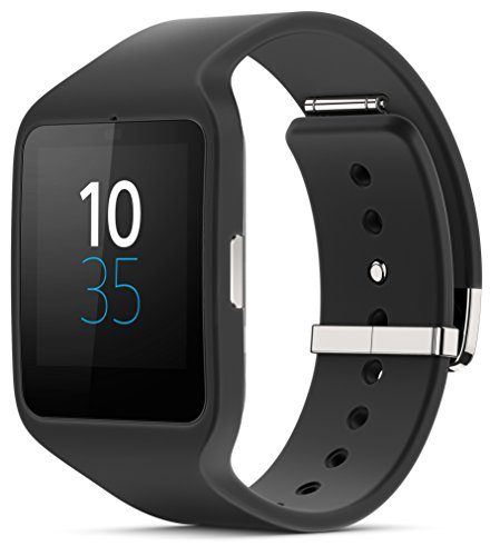 "Sony SWR50 Smartwatch 3, Display Transflettivo da 1,8"", Processore Quad ARM A7 1.2 Ghz, Memorie RAM da 512 MB, Nero"