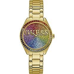 Reloj Guess W0987L5 Glitter Girl, Dorado para Mujer, Nuevo 2019