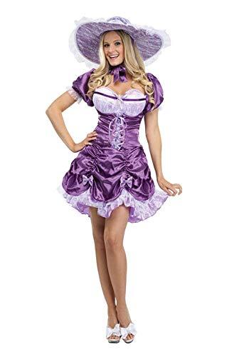 Horror-Shop Sexy Südstaaten Dame Kostüm S/M
