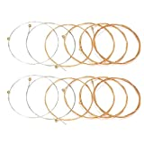 #9: Guitar String, 12 Pcs High Quality Guitar Strings Replacement for Acoustic Folk Guitar