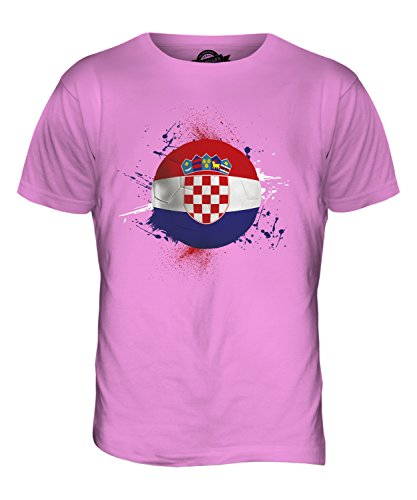 CandyMix Kroatien Fußball Herren T Shirt Rosa