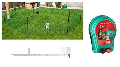 *Kaninchennetz mit Weidezaungerät B 40 und Erdstab Einzelspitze 12 m*