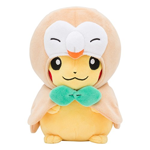 Pokemon-Center-Original-Plush-Doll-Rowlet-Ponchos-Pikachu