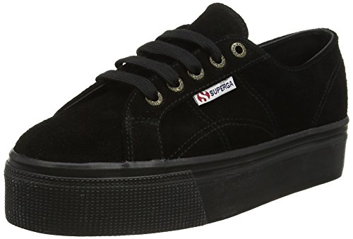 Superga 2790Suew Sneaker Donna Nero Full Black A09 39.5 EU I1l