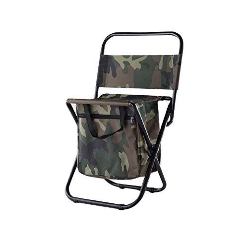 Klappbarer Hocker mit Rucksack - Klappbarer Rückenlehnenstuhl Picknick Klappbarer Hocker Tragbarer bequemer Barbecue-Hocker für Outdoor-Camping-Freizeit - Blau-Yan (Bars Hocker)