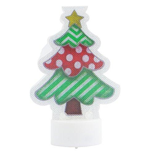 Novedad de Navidad LED sin llama funciona con pilas multicolor tarjeta lámpara para hogar sala de estar Boda Partido decoración 12pcs