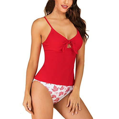 Bikini Set Bedruckter Bikini Damen Geteilter Badeanzug Push up Bikini Set Neckholder High Waist Bikini Damen Badeanzug Sport Zweiteiliger Badeanzug Modische Zwei StüCke ALISIAM - Mesh-zwei Stück Höschen