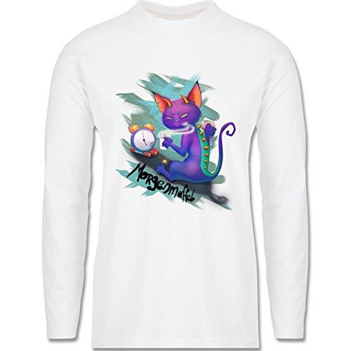 Statement Shirts - Morgenmuffel - Longsleeve / langärmeliges T-Shirt für Herren Weiß