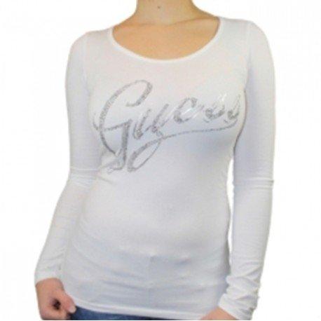 tshirt-guess-w14i10je900-manches-longues-l-blanc