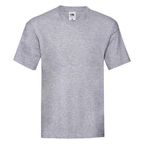 T-Shirt da Lavoro Uomo Maglietta Scollo V 100% Cotone Fruit of The Loom Original