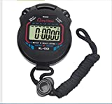 Waymeduo Digital Professional Handheld LCD Chronograph Sports Stopwatch Timer Stop...