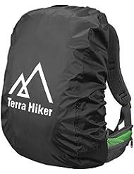 Cubierta protectora de Lluvia para Mochilas Terra Hiker para actividades al Aire Libre (Negro,