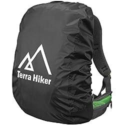 Terra Hiker Rucksack Regenschutz, Wasserdicht Regenhülle Regencover (Schwarz (M 50L-70L))