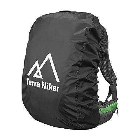 Terra Hiker Housse Sac à Dos Etanche Anti Pluie Poussière Pour Camping Randonnée Trekking Cyclisme ( Tailles et Couleurs Aux Choix ) (Noir, S ( 15 L - 40 L ))