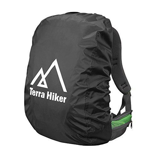 Terra Hiker Copri Zaino Antipioggia Impermeable per Escursionismo Trekking (Nero, S : 15 - 40 L)