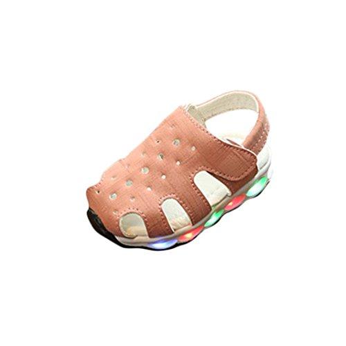 K-youth® Sandalias Bebe Niña Verano Zapatos Bebe Niñas LED Luz Luminosas Flash Zapatos Zapatillas de Deporte Zapatos de Bebé Antideslizante Botas Niña Zapatos (21 EU, Rosa)