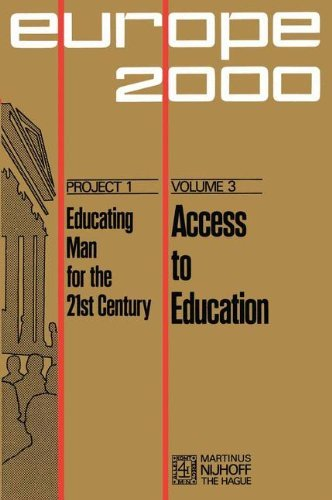 Access to Education (Plan Europe 2000, Project 1: Educating Man for the 21st Century) by Alfred Sauvy (2009-02-22)