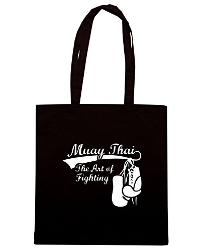 T-Shirtshock - Borsa Shopping TBOXE0088 Muay Thai The Art of Fighting Nero