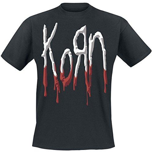 Korn Dripping Bloody Logo Herren TShirt Offizielles Lizenzprodukt Schwarz