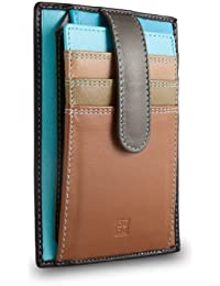 DuDu - Women's Leather Wallets - Card Cases - Stylish - Colorful Colection - Timor - Color Dark Brown