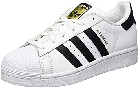 Adidas Originals Superstar, Chaussures Sneaker Mixte Enfant - Blanc (ftwr White/core Black/ftwr White), 38
